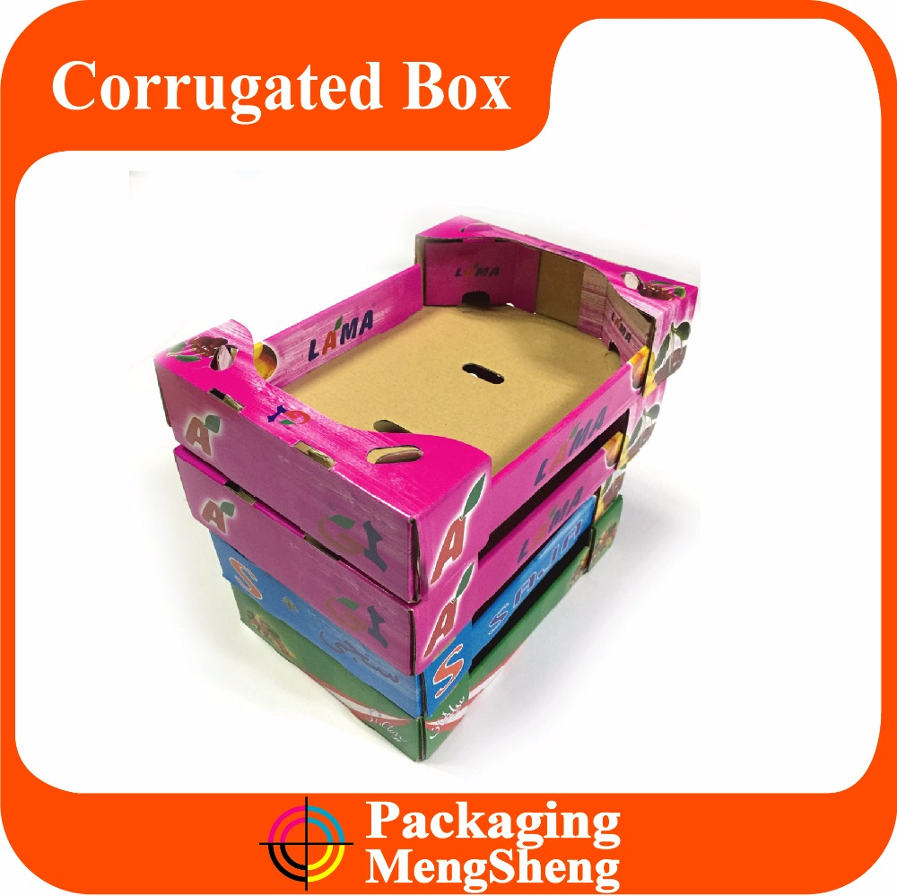 Custom Fancy dry fruit carton packing packaging paper cardboard box for vegetables apple fruit boxes wholesale