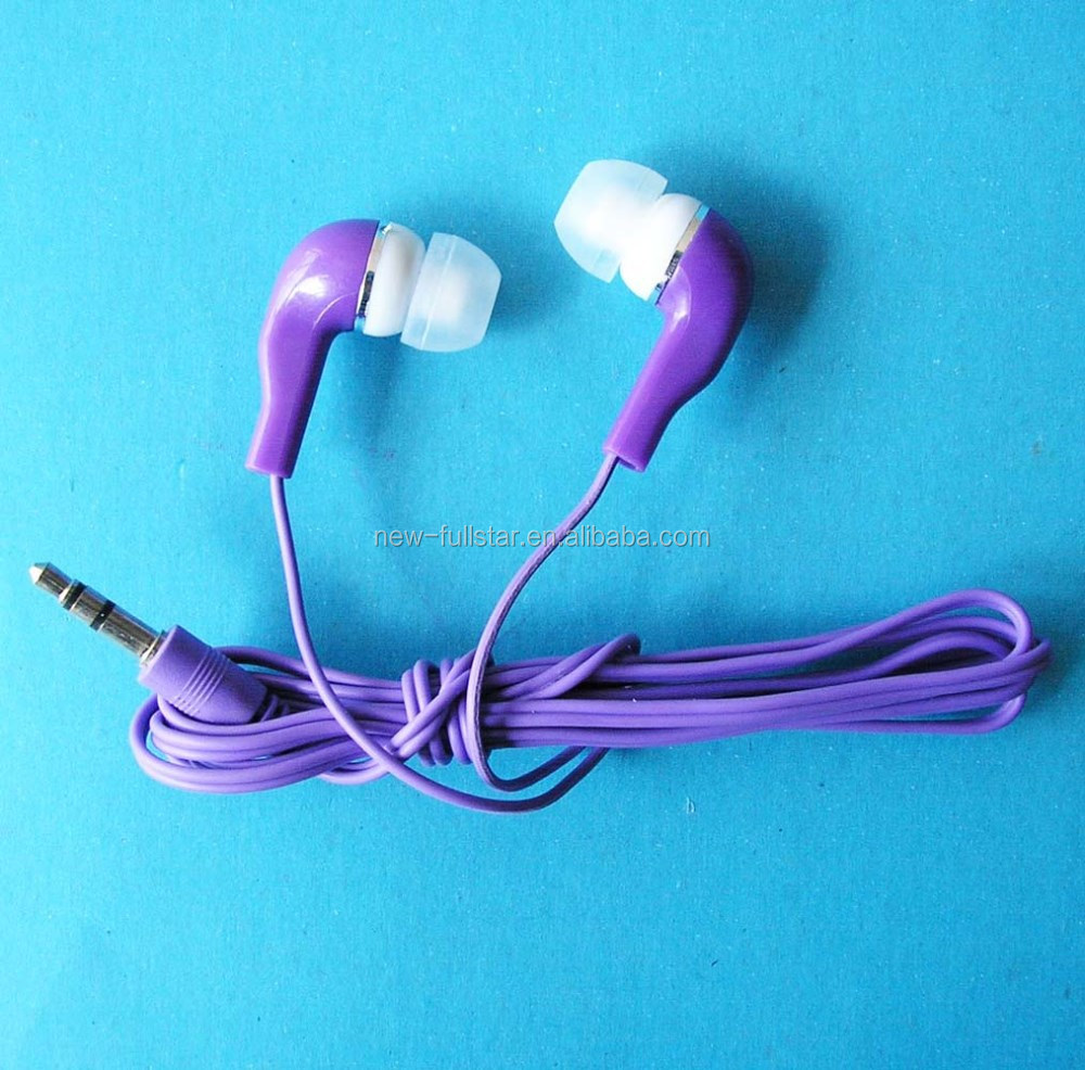 Very chep CE & ROSH passed promotion shoe lace earphones