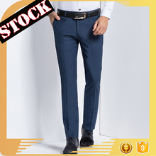 K 2017 New Style latest fashion design Denim Plain Business Elastic Loose fit Straight Blank Suit men's Pants Wholesale in stock