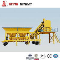 25m3/h Mobile Concrete Batching Plant Ready Mix Plant Concrete Mobile Plant, Competitive Price SanQ Group China Manufacturer.