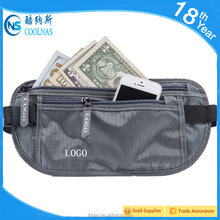 RFID Travel Wallet Blocking Waist Bag Security money Belt Sports running belt for cell phones passport fitness waist bag