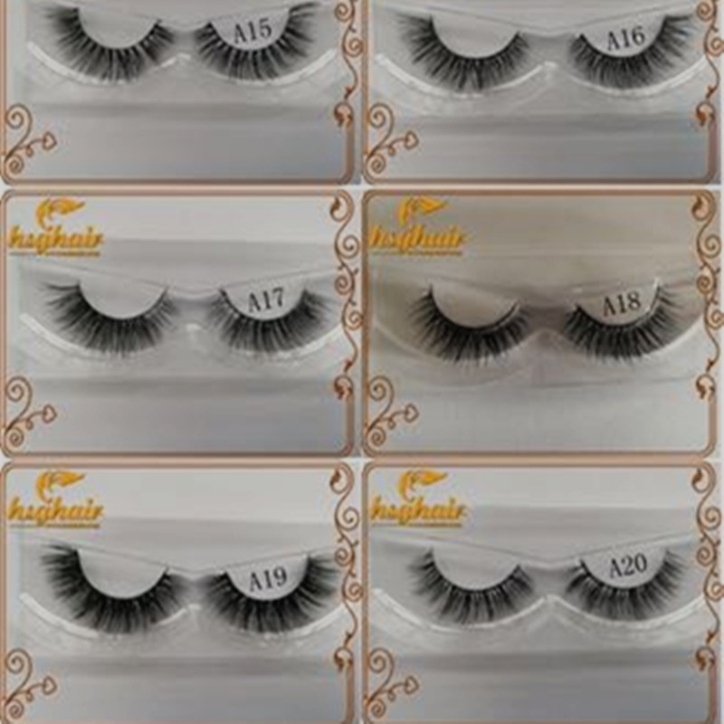 HSG custom packaging lashes 3D mink eyelashes with extension