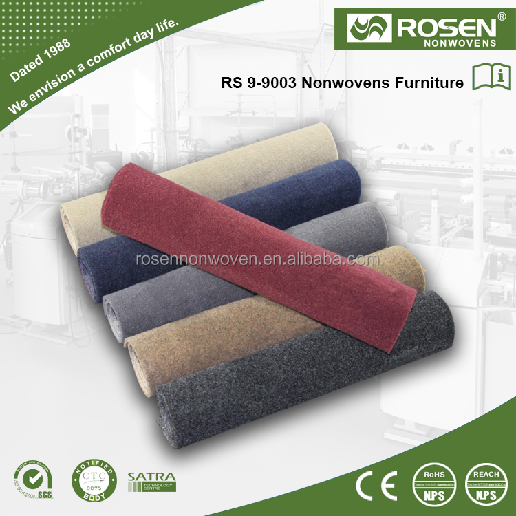 RS NONWOVEN 100% polyester Needle punched carpet non woven material for Floor carpet