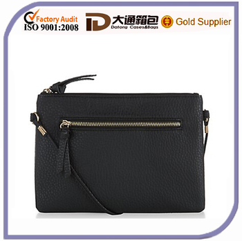 2016 Small New Model Black PU Leather Lady Shoulder Bag