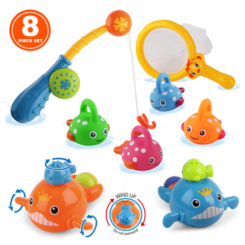 Amazon Supplier Cheap Kids Floating Plastic Fish Baby Sets Baby Bath Toy for Children