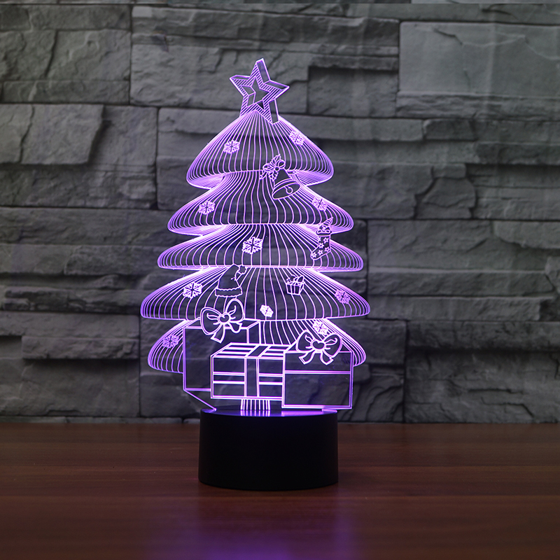 Custom dropship 3D christmas tree night lights for creative gifts idea FS-3606