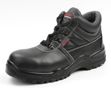 Black waterproof work safety boots