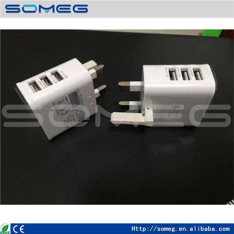 3 ports usb Adaptive Fast charging UK fast charger 9V 1.67A 5V 2A wall Charger wall adapter For Samsung S7 S6 Note 5 4