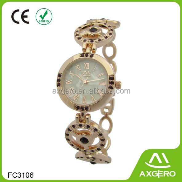 Luxury China factory custom logo ladies fancy diamond watch