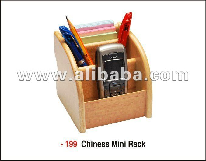Promotional Gift - 3 in 1 Chinese Mini Rack - Mobile, Pen, Card Holder