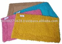 HEART SHAPE BATH MAT 100% COTTON FROM INDIA ECO FRIENDLY AND CHEAP PRICE