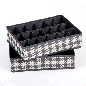2017 Novelty Flower Print Storage Box Foldable Underwear Bra Socks Tie Organizer Divider Boxes With Cover Wholesale
