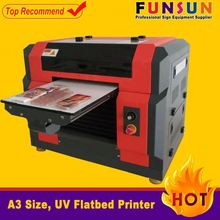 Funsunjet A3 size dx5 head 1440dpi a4 digital flatbed phone case printer uv printer