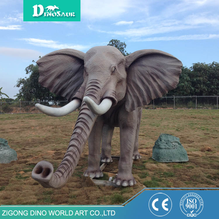 Educational Animal Equipment Silicone Rubber Elephant