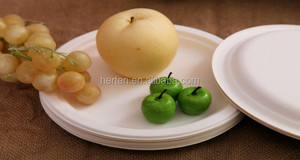 Biodegradable Disposable Tableware Cake Pizza Paper Plates Dish and Food Tray