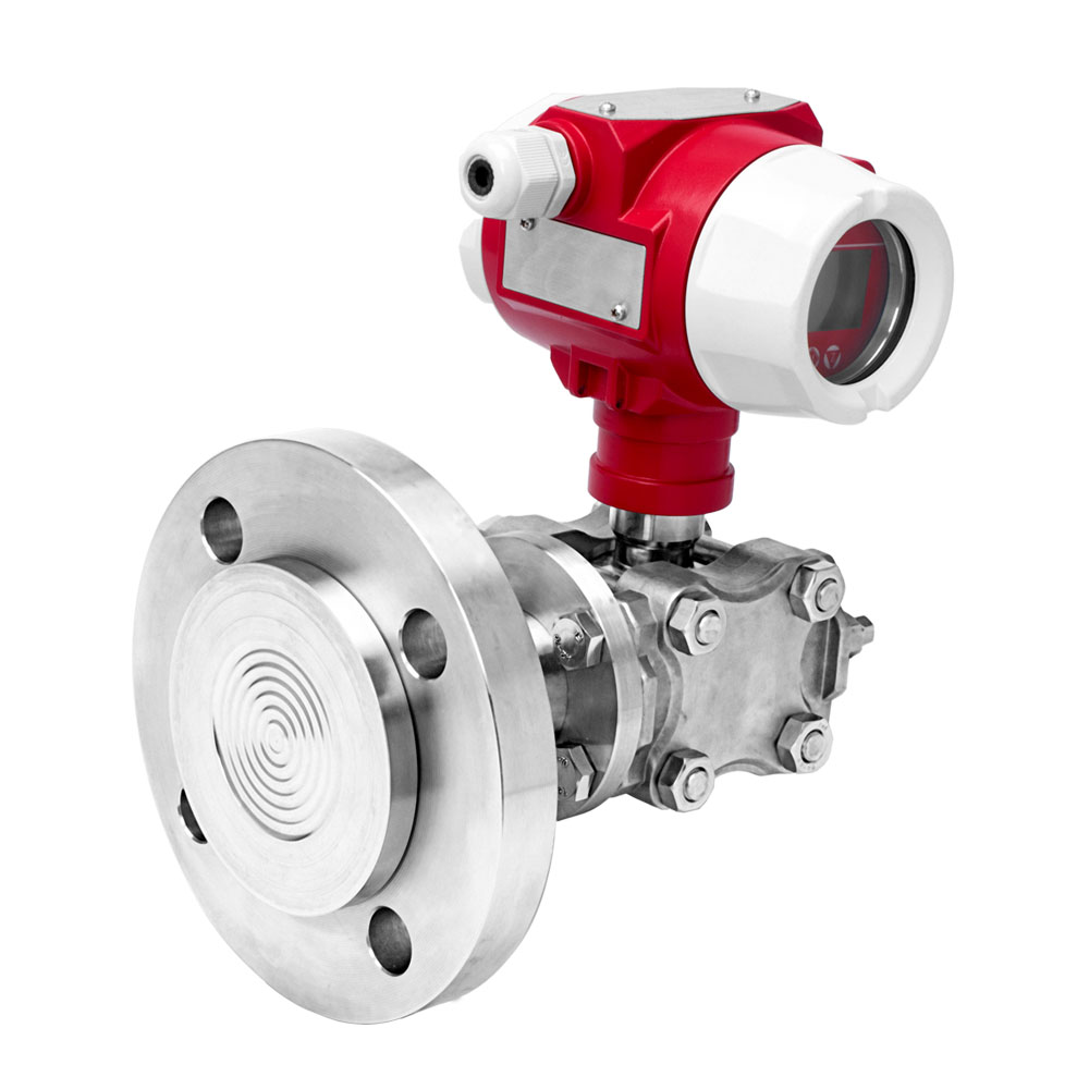 Flange mounted 4-20ma smart pressure transmitter for liquids and gases