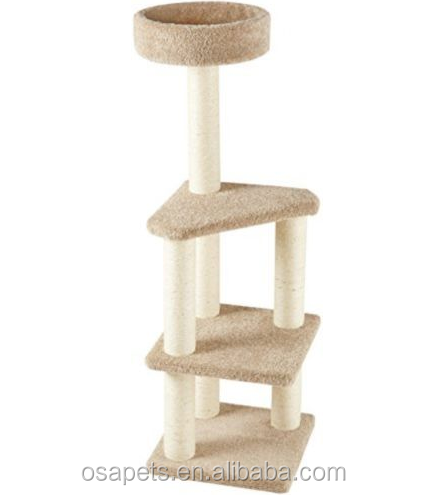 simple and plush cat tree with high quality cat furniture