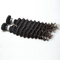Wholesale cuticle aligned raw indian hair curly wave bundles 100% unprocessed real human temple hair directly from india
