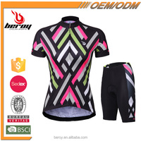 BEROY Customized Women's Cycling Tops and Shorts,China Breathable Bike Jersey Set