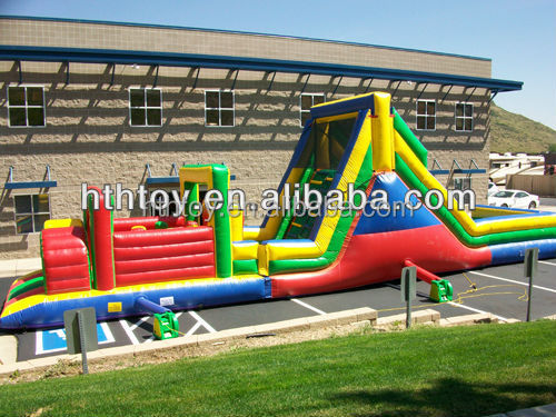 Fun play jump inflatable obstacle course for sale