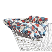 Triangle diamond baby shopping cart cover with 5 point safety harness