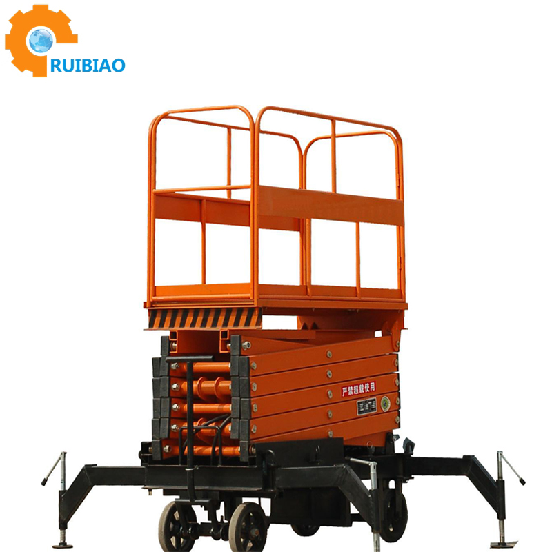 Safety Assured Automatic Hydraulic Mobile Basket Scissor Man Lifts