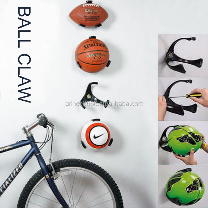 Wall Ball Claw Basketball Rack, Football Storage Holder, Wall Mount Display Holder for Home Decor