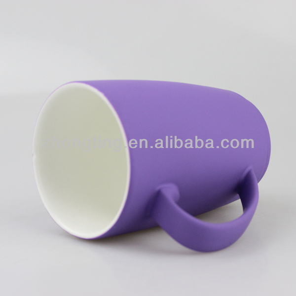 New ceramic cup bulk coffee mug with rubber cover grip