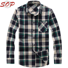 Excellent quality latest style long sleeve flannel custom fancy design shirt for men