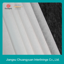 Adhesived nonwoven interlining/coat fuse interlining for casual clothes
