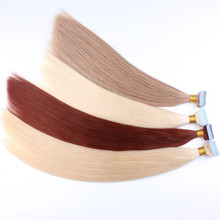 Top sell virgin remy quality european human hair tape hair extension for white people