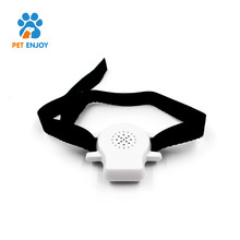 Lightweight high frequency ultrasonic nylon dog collar bark control with name plate