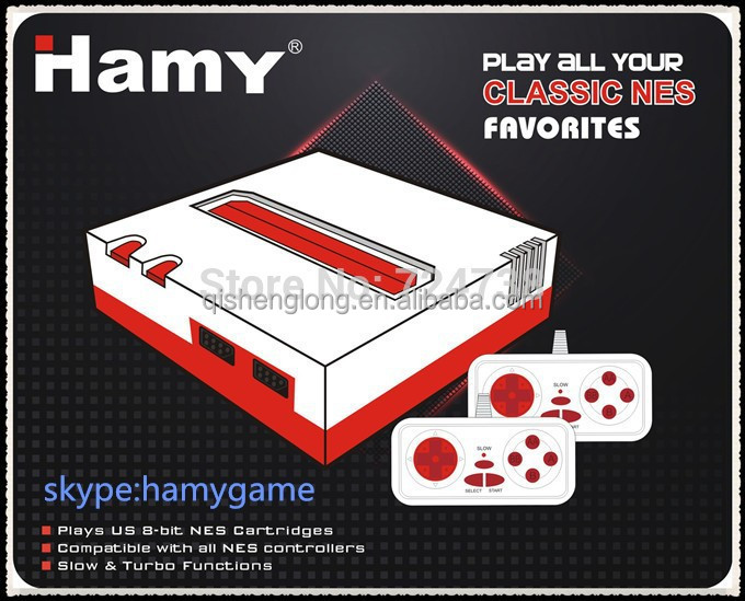 Hamy 8 bit nes TV / Video Game console with two gamepad and 88in1 games for free