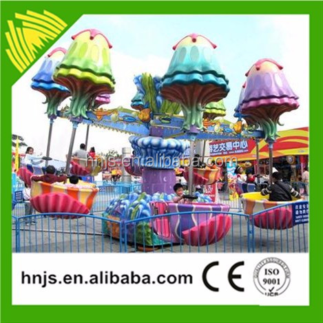 Outdoor playground amusement rides jellyfish shape airplane for sale