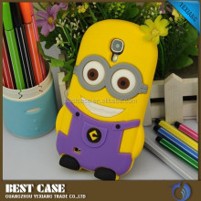 funny cartoon model minions cover case for samsung galaxy s3 i9300 silicones