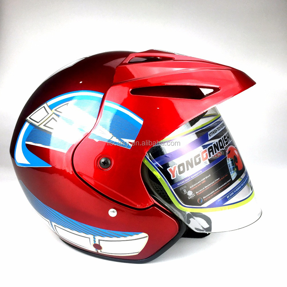 New design Motorcycle accessories open face helmet