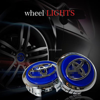 Best Selling LED Decoration Car Wheel Light Metal Chrome IP68 Waterproof Maglev Wheel Lights for TOYOTA
