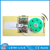 Greeting card sound module for card