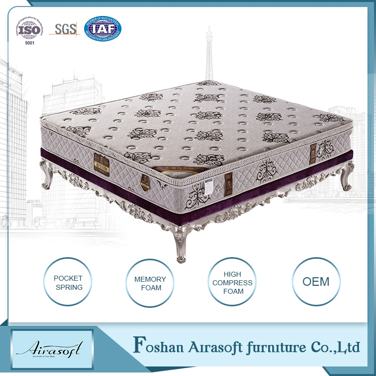 Durable economic common pocket spring bedroom matress best rated memory foam twin mattress