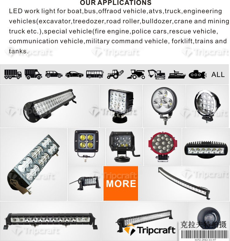 High Quality 48 watt Working led lights 12v offroad auto 48w LED ARBETSLJUS for car