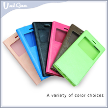 Window View Smart Square TPU leather case with magnet for Iphone 6 mobile filp cover