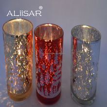 Wholesale Electroplate Glass Colorful Candle Jar Votive Candle Holder