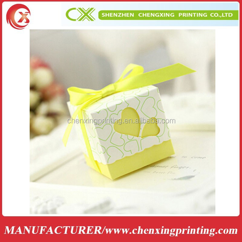 Light Yellow Square Wedding Favor Boxes Candy Box Gifts Event & Party Packing Box