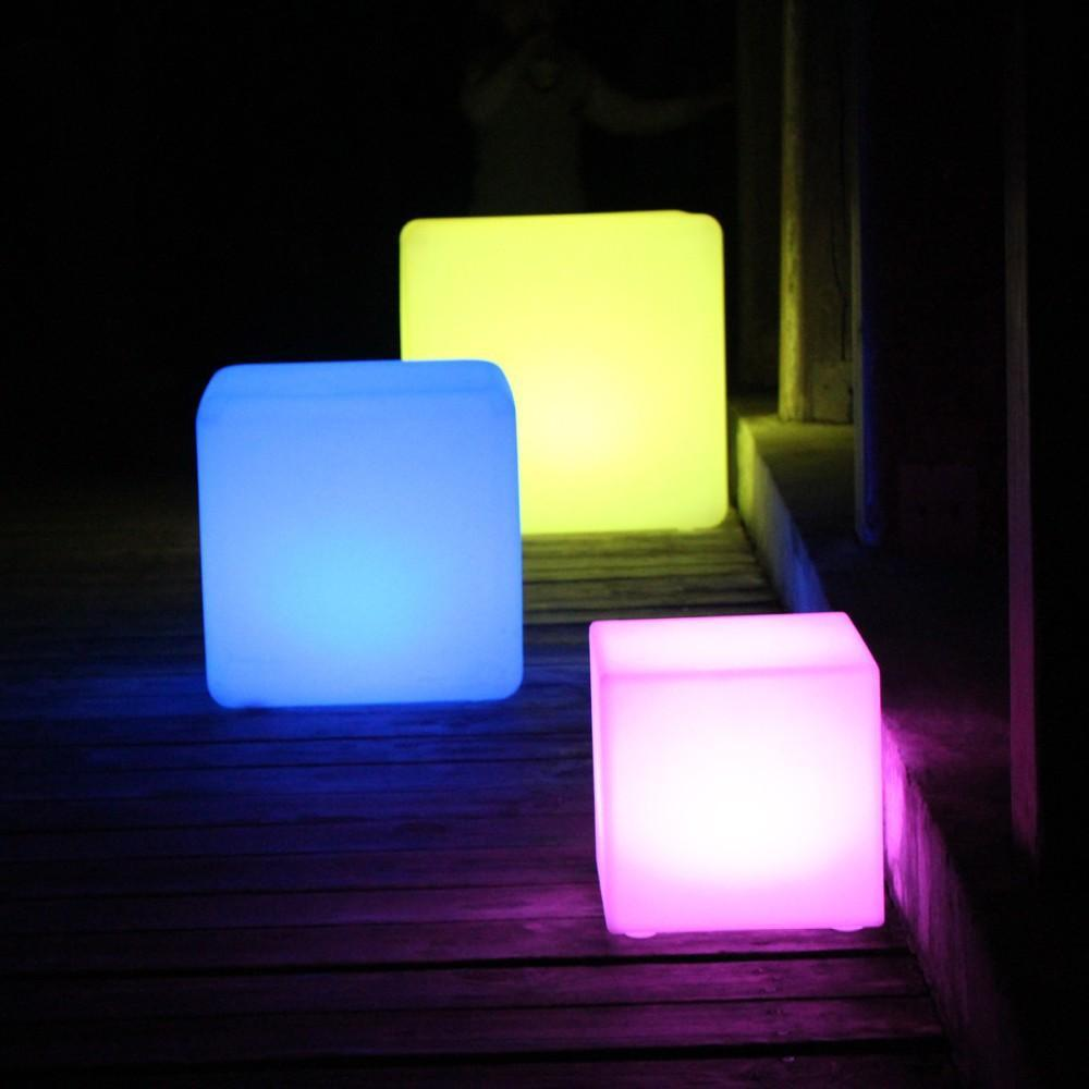 Christmas 20cm waterproof DMX led cube light mini rechargeable led cube