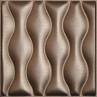 Seaside Style 3D Wave Texture Patent Leather Wall Panel