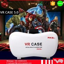 2016 The global hot style Google HeadMount VR BOX VR CASE Virtual Reality 3D Glasses for Iphone 5 6 7 3.5 -6 inch cellphone