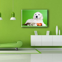 White dog and vegetables pop wall canvas art painting designs for living room