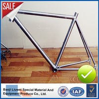Baoji Liuwei high light titanium road bike frame
