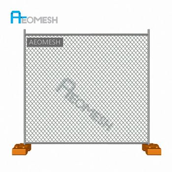 Made in Guangzhou Professional Factory Brace Chain Link Mesh Temporary Fence