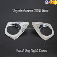 ABS chrome Front Fog Light cover for Toyota Avanza 2015 New-On For Toyota Avanza 2016 parts accessories from Sunz